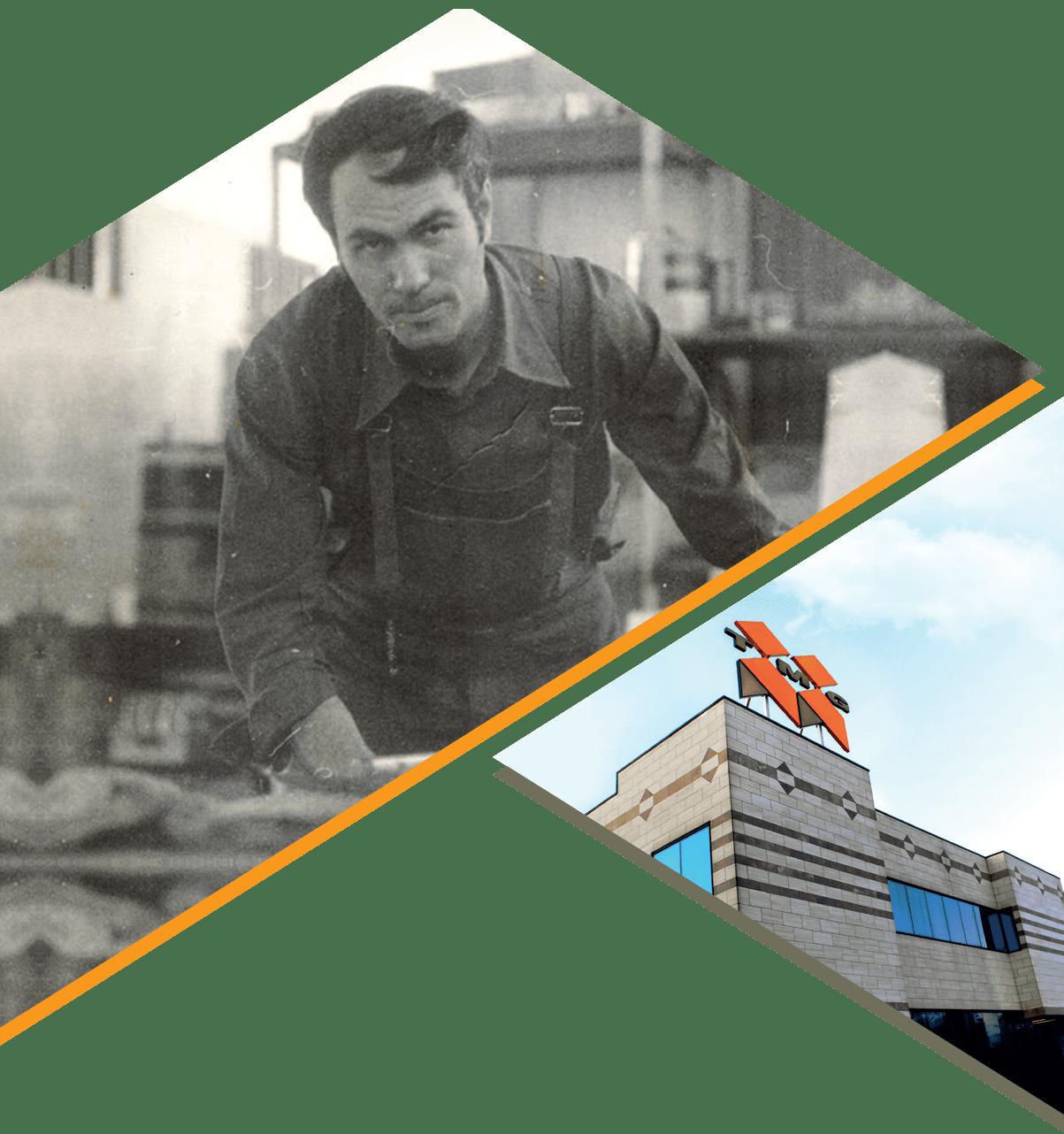 Mario Dolzan fondatore della TMG e lo stabilimento italiano